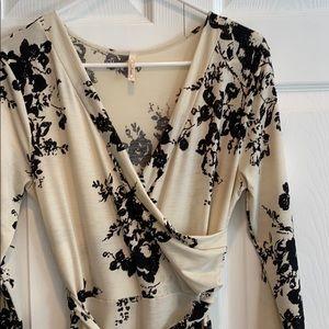 Black and cream maxi dress